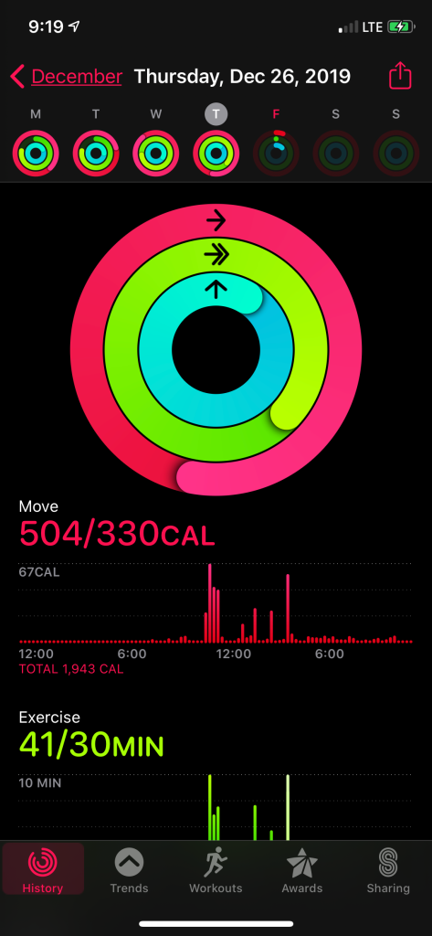exercise app screenshot