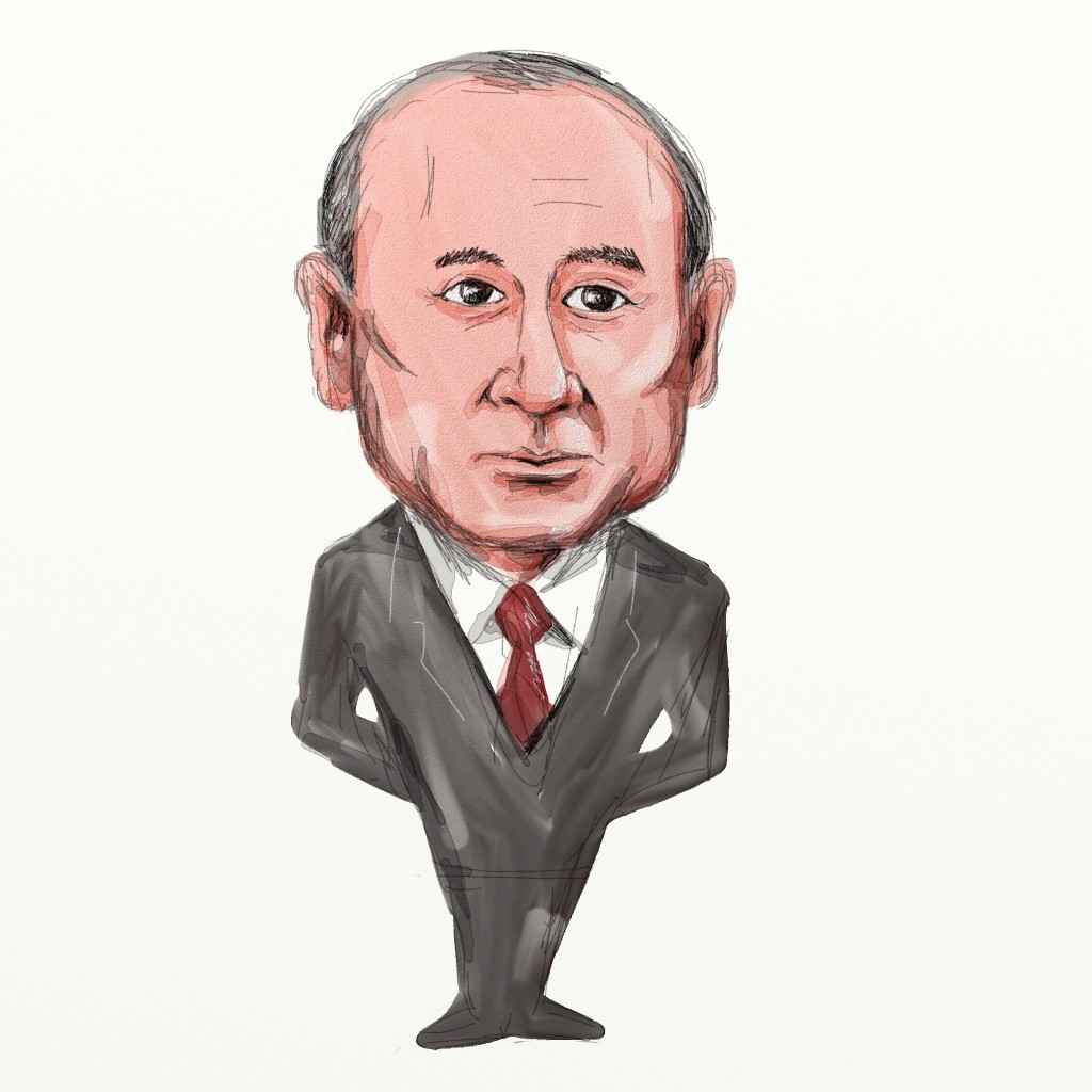 drawing of V Putin